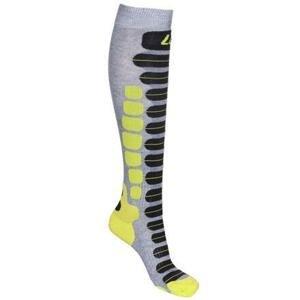 Lenz Skiing 2.0 lyžařské ponožky šedá-zelená - EU 39-41