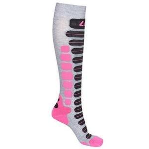 Lenz Skiing 2.0 lyžařské ponožky šedá-růžová - EU 35-38