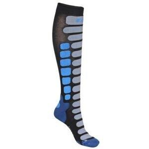 Lenz Skiing 2.0 lyžařské ponožky černá-modrá - EU 42-44
