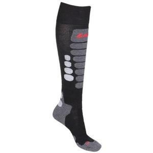 Lenz Skiing 3.0 lyžařské ponožky černá-šedá - EU 39-41