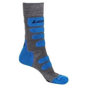Lenz X Country 2.0 lyžařské ponožky šedá-modrá - EU 42-44