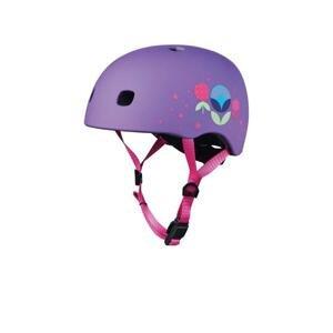 Micro LED Floral Purple přilba - M (52-56 cm)