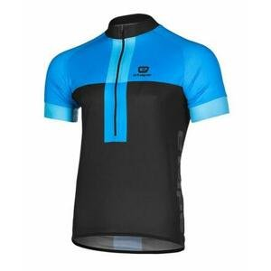 Etape Face cyklistický dres černá-modrá - L