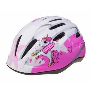 Etape Rebel dětská cyklistická helma bílá-růžová - XS/S 48-52 cm