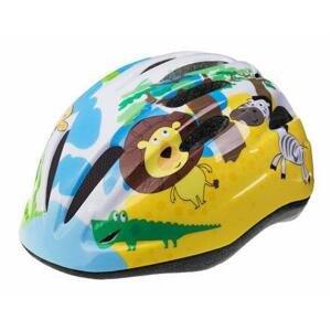 Etape Rebel dětská cyklistická helma žlutá-modrá - S/M 52-56