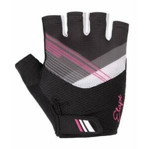 Etape Liana cyklistické rukavice černá-růžová - M