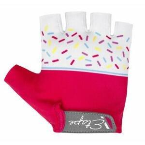 Etape Tiny dětské cyklistické rukavice růžová-bílá - 5-6