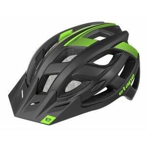 Etape Escape cyklistická helma černá-zelená - L/XL (58-61 cm)