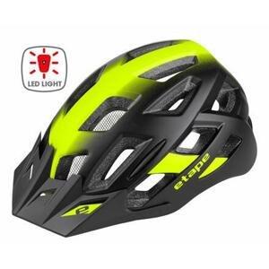 Etape Virt Light cyklistická helma černá-žlutá - L/XL (58-61 cm)