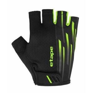 Etape Speed cyklistické rukavice černá-zelená - XL