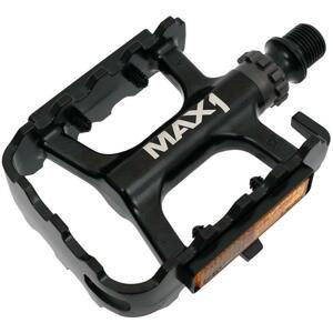 Max1 pedály Race ložiskové hliníkové černé
