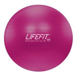 Lifefit Gymnastický míč Anti-burst 55 cm bordó