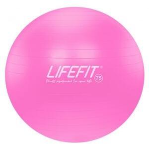 Lifefit Gymnastický míč Anti-burst 75 cm růžový