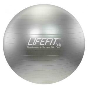 Lifefit Gymnastický míč Anti-burst 75 cm stříbrný