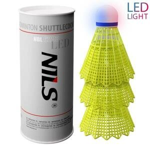 NILS Badmintonové míčky NBL6293 s LED 3 ks