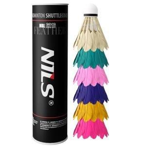 NILS Badmintonové míčky z peří NBL6216 multicolor 6 ks
