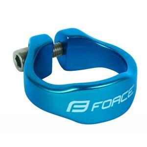 Force Objímka sedlovky na inbus 31.8mm Al, modrá