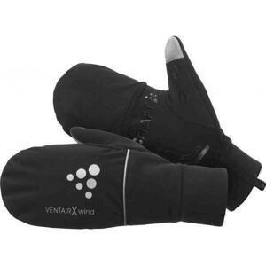 Craft Hybrid Weather 1903014 cyklistické rukavice - M - černá