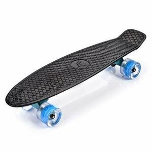 Meteor Flip LED plastový skateboard černá