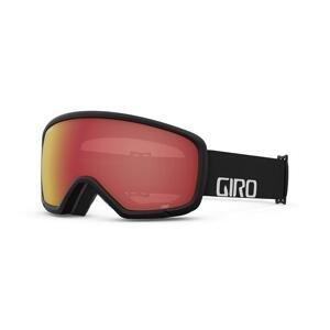 Giro Stomp dětské lyžařské brýle - Black Wordmark Amber Scarlet - černé/červené skla