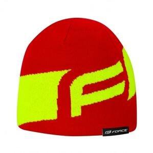 Force Čepice zimní DWARF pletená, červeno-fluo