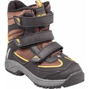 Crossroad CALLE hnědá 29 - Dětská zimní obuv