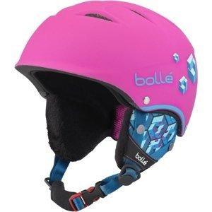 Bolle B-FREE růžová (53 - 57) - Dětská sjezdová helma