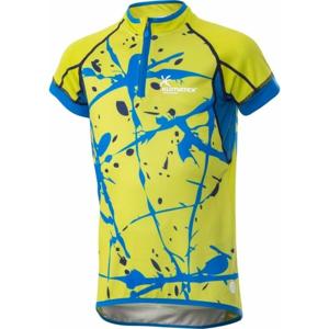 Klimatex JOPPE žlutá 134 - Dětský cyklistický dres se sublimačním potiskem