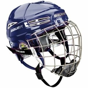 Bauer RE-AKT 100 YTH COMBO modrá 49-54 - Dětská hokejová helma s mřížkou
