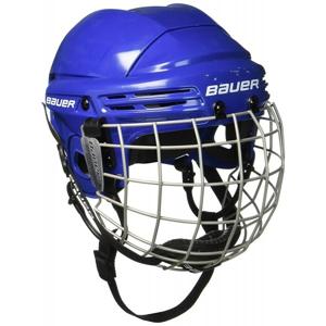 Bauer 2100 COMBO JR modrá 50-55 - Juniorská helma s mřížkou