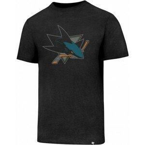 47 NHL SAN JOSE SHARKS CLUB TEE černá L - Pánské tričko