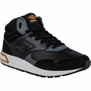 Umbro LAYSTALL MID černá 8.5 - Pánská volnočasová obuv