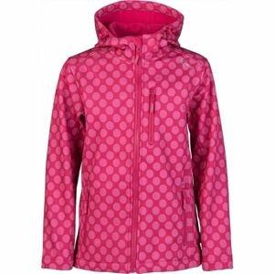 Lewro DONA růžová 140-146 - Dívčí softshellová bunda