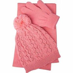 Lewro PIPA růžová 8-13 - Dívčí pletený set