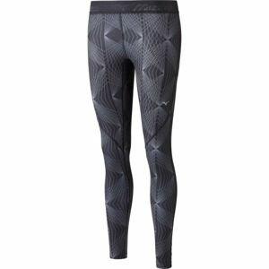 Mizuno IMPULSE PRINTED TIGHT šedá XL - Dámské elastické kalhoty