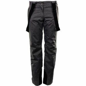 ALPINE PRO EBISA 5 tmavě šedá L - Dámské lyžařské kalhoty