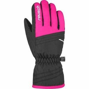 Reusch ALAN JR růžová 5 - Dětské lyžařské rukavice