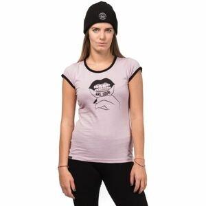 Horsefeathers TATTOO TOP růžová L - Dámské tričko