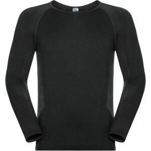 Odlo SUW MEN'S TOP L/S CREW NECK PERFORMANCE ESSENTIALS WARM černá XL - Pánské funkční tričko