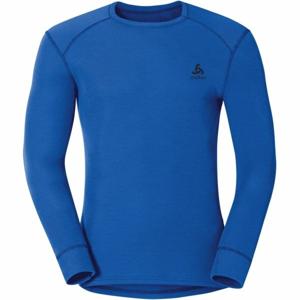 Odlo SUW MEN'S TOP L/S CREW NECK ACTIVE WARM modrá M - Pánské funkční tričko