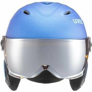 Uvex JUNIOR VISOR PRO modrá (54 - 56) - Dětská lyžařská helma