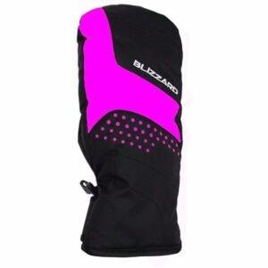 Blizzard MITTEN SKI GLOVES JR růžová 5 - Dětské lyžařské rukavice