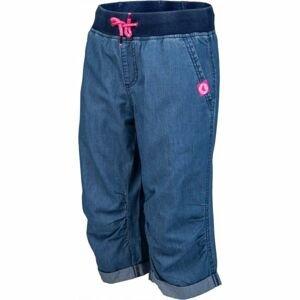 Lewro ORA modrá 164-170 - Dětské 3/4 kalhoty džínového vzhledu