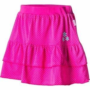 Lewro MARCIA růžová 152-158 - Dívčí sukně s volány