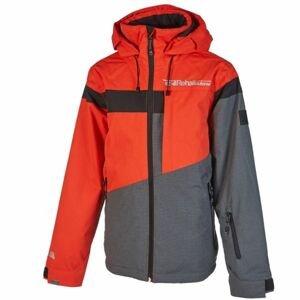 Rehall DYLAN šedá 128 - Dětská lyžařská bunda