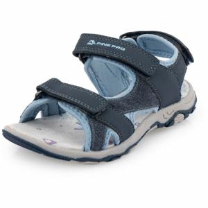 ALPINE PRO POPPIO modrá 32 - Dětská letní obuv