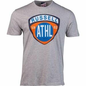 Russell Athletic SHIELD TEE šedá L - Pánské tričko