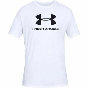 Under Armour SPORTSTYLE LOGO SS bílá M - Pánské triko
