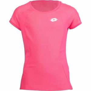 Lotto SQUADRA G TEE PL růžová L - Dívčí tenisové triko