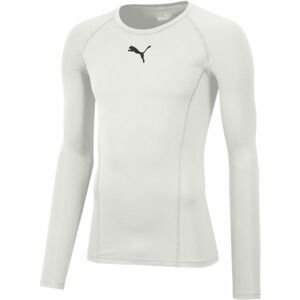 Puma LIGA BASELAYER TEE LS bílá S - Pánské funkční triko